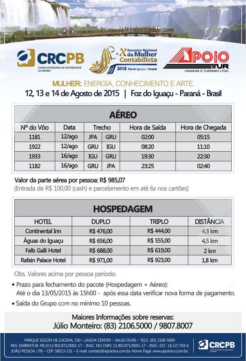 banner-preços FOZ DE IGUAÇU - ULTIMO PRAZO
