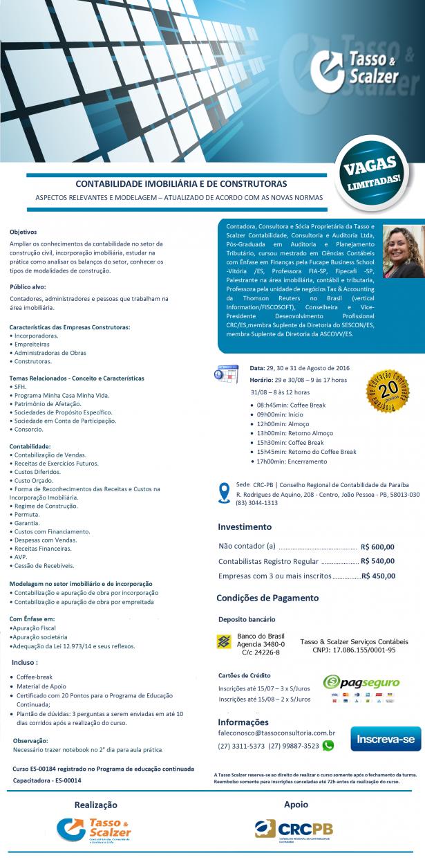 CONTABILIDAD IMOBILIÁRIA 29 30 E 31 DE AGOSTO DE 2016 CRCPB (1)